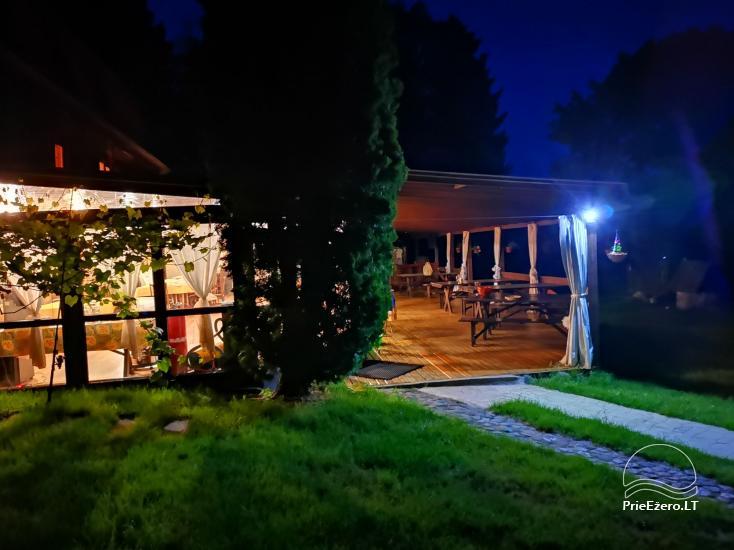 Bertašiūnų Vienkiemis prie Trikojo ežero: salė, pirtis, pramogos - 7