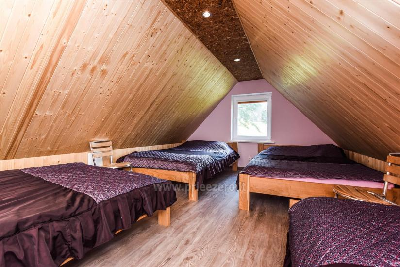 Namelis prie tvenkinio su pirtimi ir visais patogumais. 15 miegamų vietų