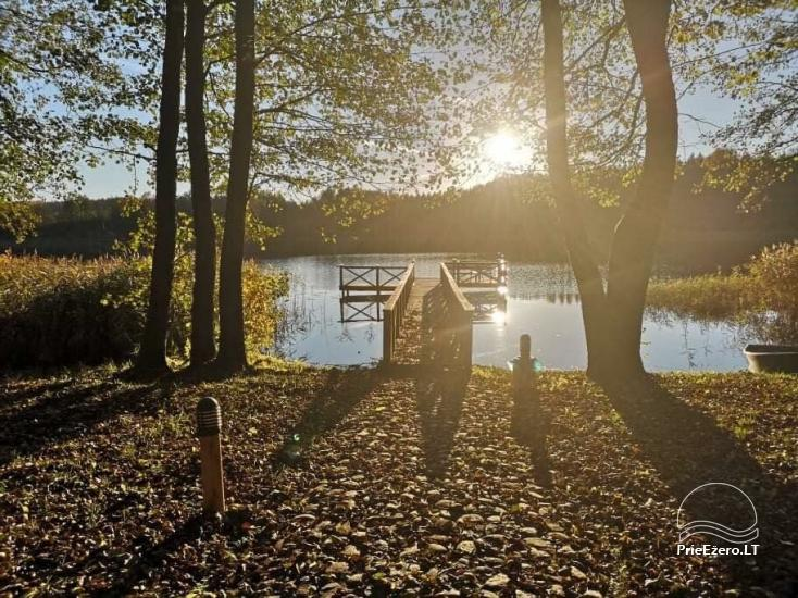 Nikronio sodyba prie Sieniaus ežero: pokylių salė, pirtis, žūklė, pramogos - 28