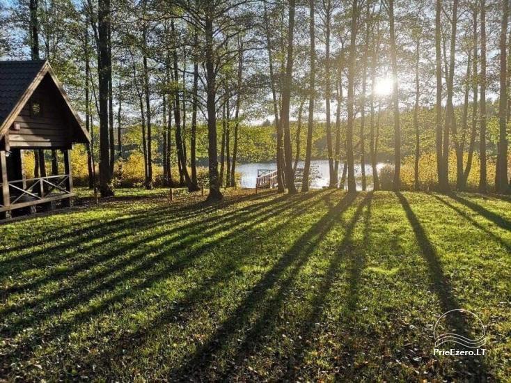 Nikronio sodyba prie Sieniaus ežero: pokylių salė, pirtis, žūklė, pramogos - 27