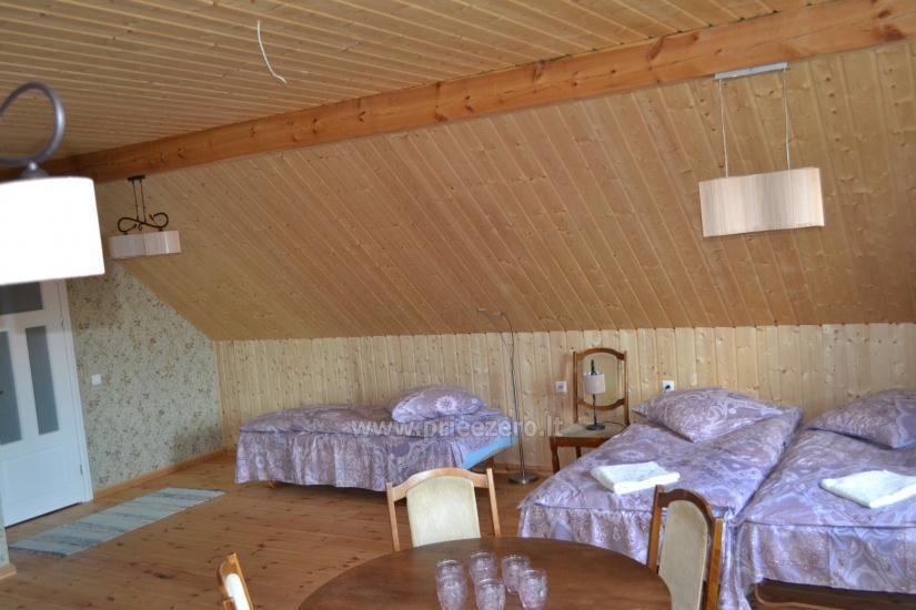 Naujos sodybos Saulėtas Bebras nuoma poilsiui, renginiams, vestuvėms prie Trakų - 29
