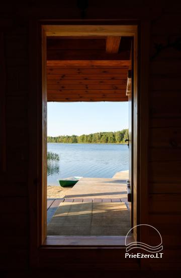Sodyba ant ežero kranto 5 stories: pirtis, sūpynės vaikams, žūklė - 16