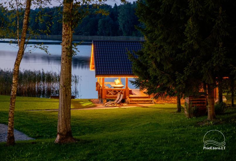 Sodyba ant ežero kranto 5 stories: pirtis, sūpynės vaikams, žūklė - 4