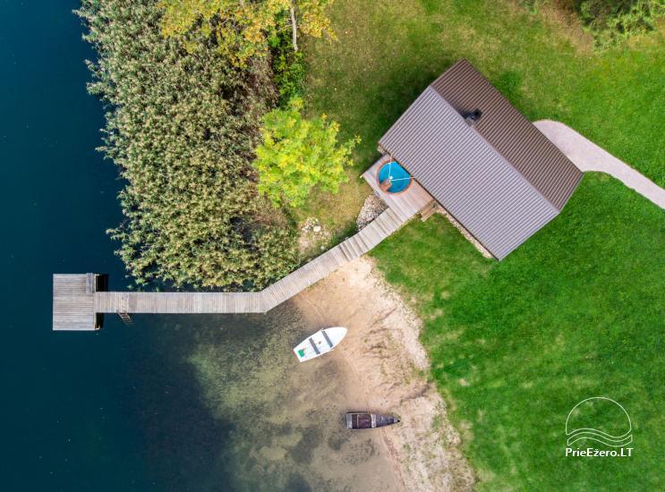 Sodyba ant ežero kranto 5 stories: pirtis, sūpynės vaikams, žūklė - 21