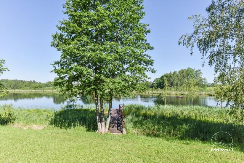 Nameliai ant ežero kranto – sodyba Plaukiojančios Salos Zarasų rajone - 8