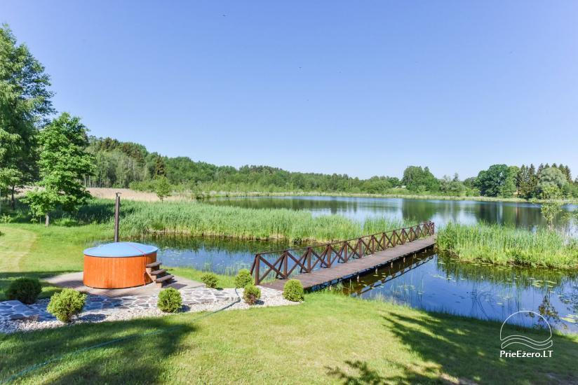 Nameliai ant ežero kranto – sodyba Plaukiojančios Salos Zarasų rajone - 5