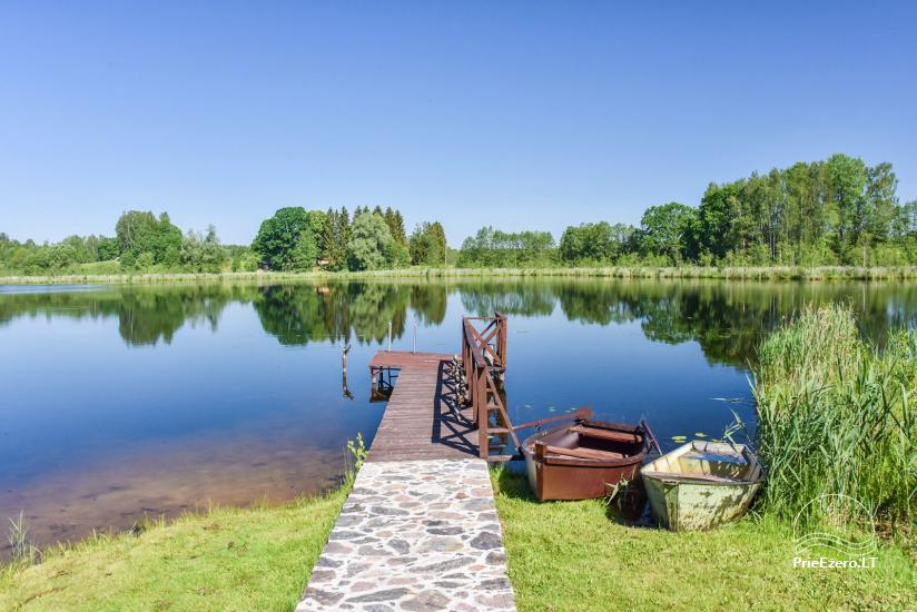 Nameliai ant ežero kranto – sodyba Plaukiojančios Salos Zarasų rajone - 6