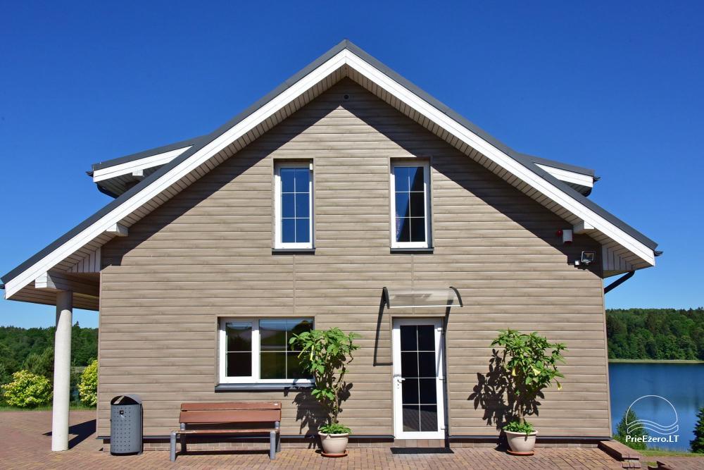 Pirties namas: pirtis, priepirtis, terasa, miegamieji