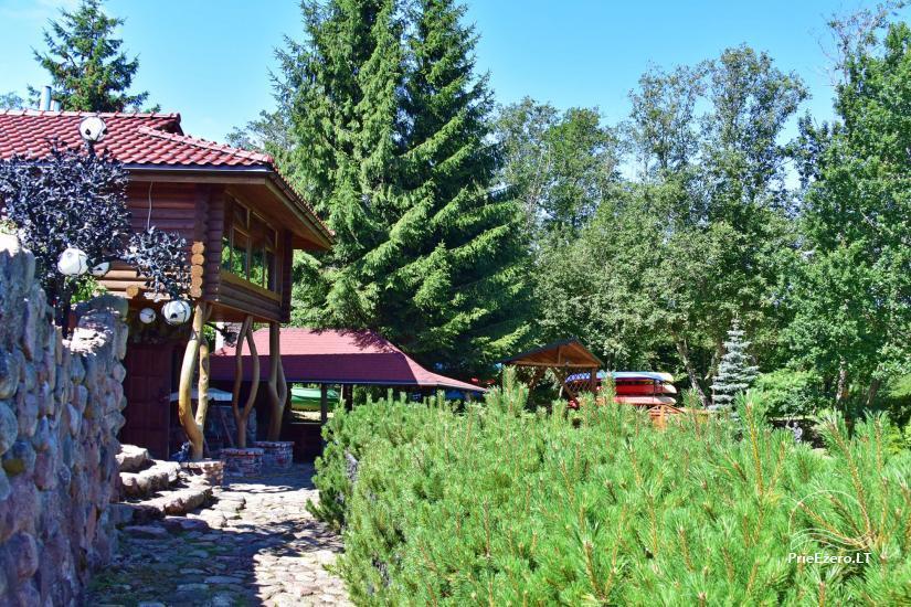 """8-vietis Rąstinis namelis su pirtimi ir kubilu prie Šventosios upės """"AKMENINĖ SALA"""" - 16"""