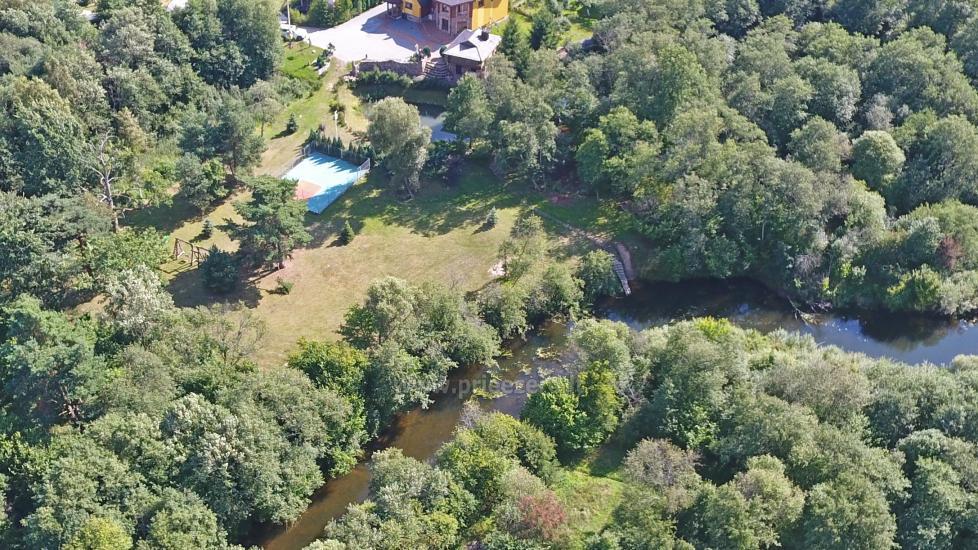 """8-vietis Rąstinis namelis su pirtimi ir kubilu prie Šventosios upės """"AKMENINĖ SALA"""" - 25"""