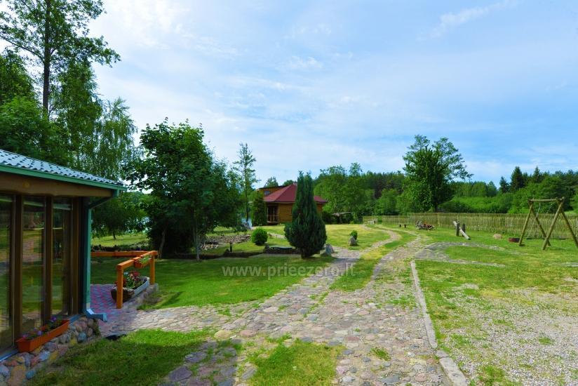 Sodyba 5 km nuo Trakų ant ežero kranto poilsiui ir šventėms: pirtis, salė, kambariai - 2