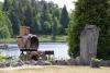 Sodyba 5 km nuo Trakų ant ežero kranto poilsiui ir šventėms: pirtis, salė, kambariai - 19