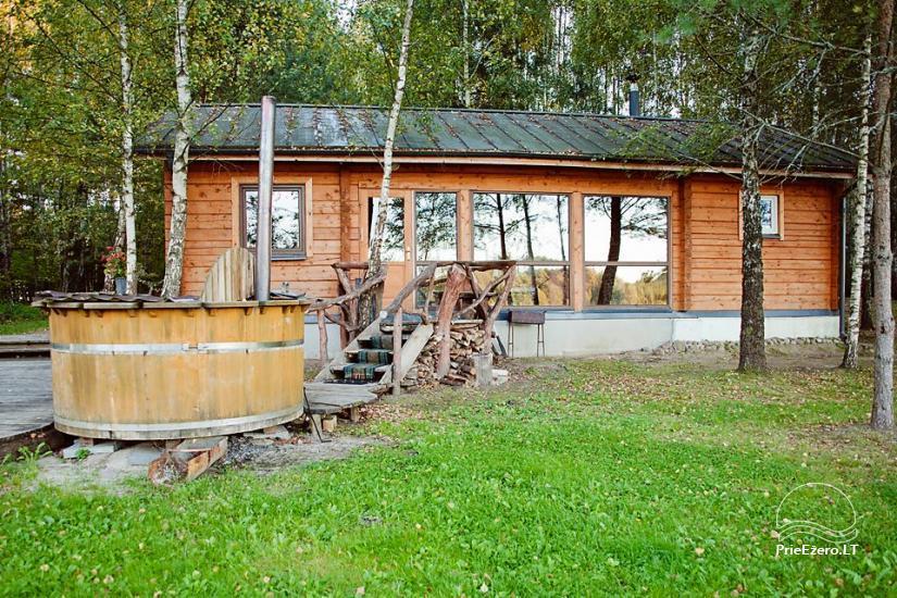 Poilsis rąstiniuose namuose individualiai šeimoms laisvalaikio centre KERNAVĖS BAJORYNĖ - 40