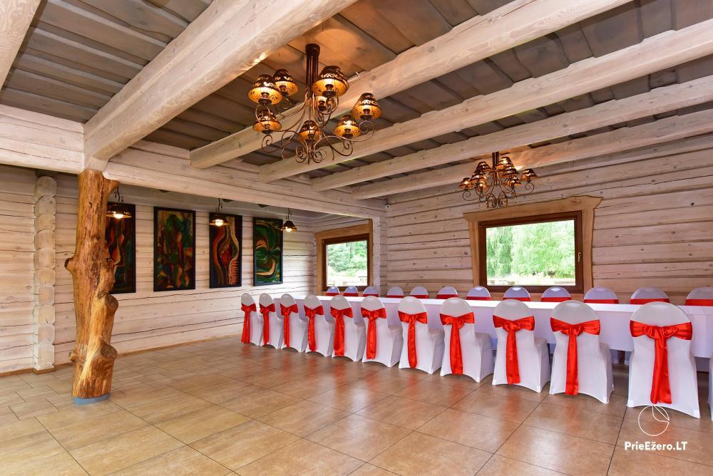 Sodyba prie Utenos užtvankos Raudesynė - poilsis šeimai, 50 vietų salė vestuvėms, krikštynoms, įmonių renginiams - 7