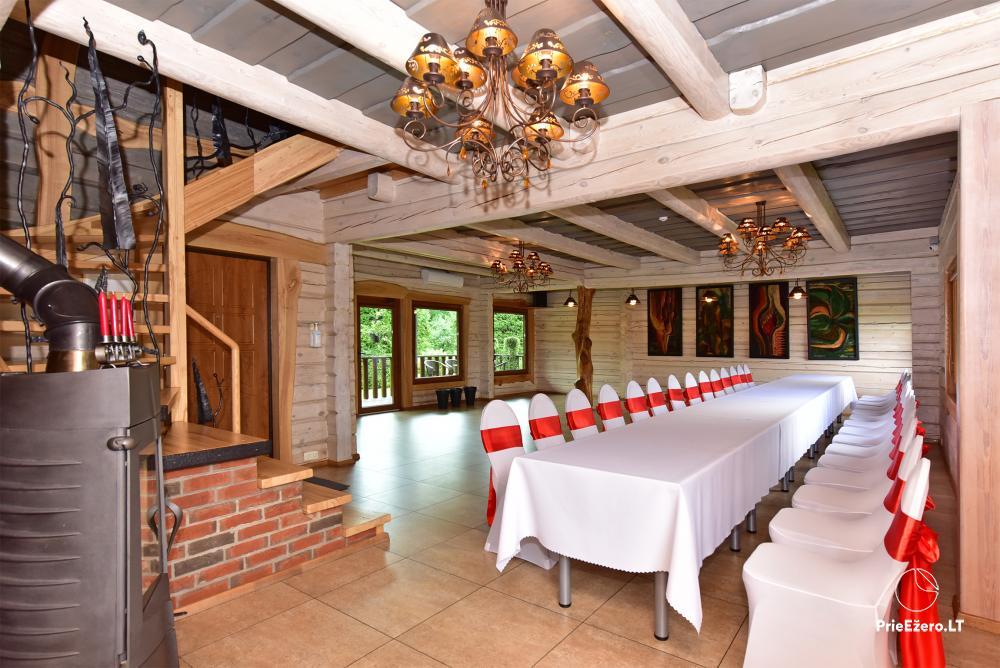 Sodyba prie Utenos užtvankos Raudesynė - poilsis šeimai, 50 vietų salė vestuvėms, krikštynoms, įmonių renginiams - 9