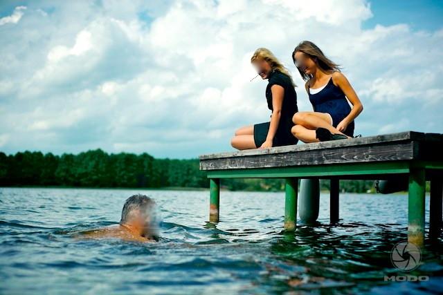 Pirtis ant ežero kranto - 12