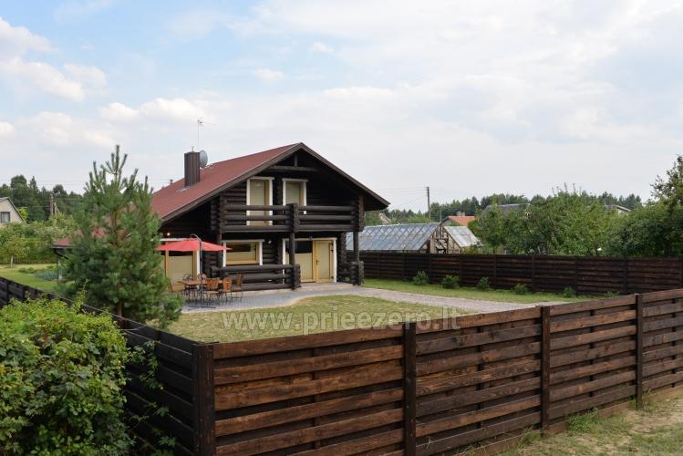 100 kv.m. rąstinė vila Šventojoje. Didelis privatus kiemas - 6