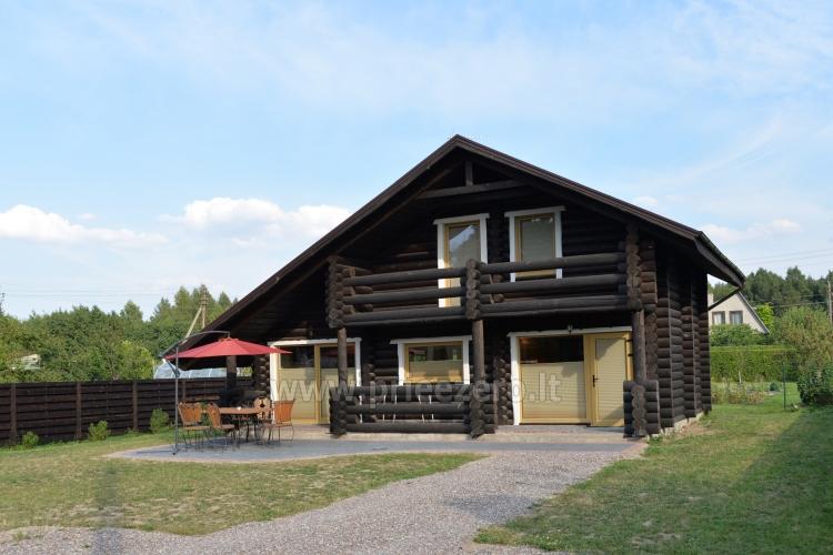100 kv.m. rąstinė vila Šventojoje. Didelis privatus kiemas - 5