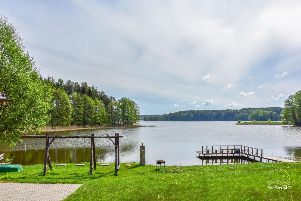 """Nameliai ir pirtis ant ežero kranto, namas su sale – """"Nijolės ir Henriko Zubrickų sodyba"""" - 32"""