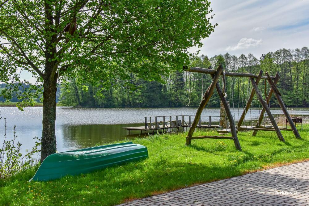 """Nameliai ir pirtis ant ežero kranto, namas su sale – """"Nijolės ir Henriko Zubrickų sodyba"""" - 33"""