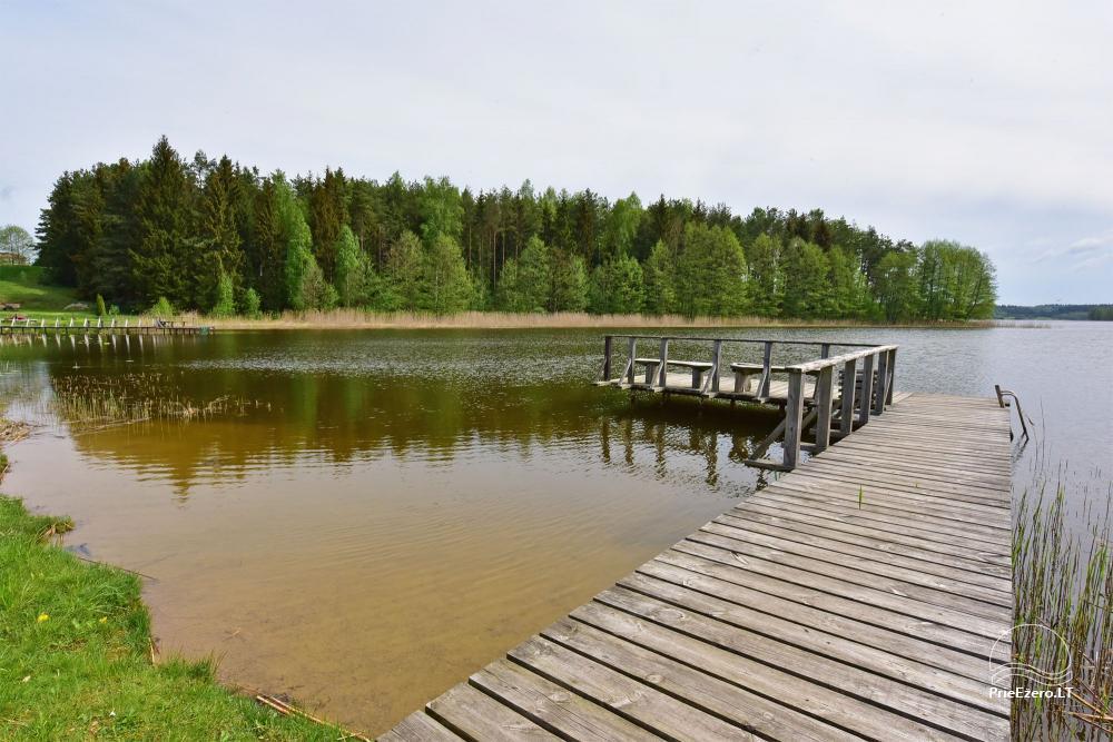 """Nameliai ir pirtis ant ežero kranto, namas su sale – """"Nijolės ir Henriko Zubrickų sodyba"""" - 34"""
