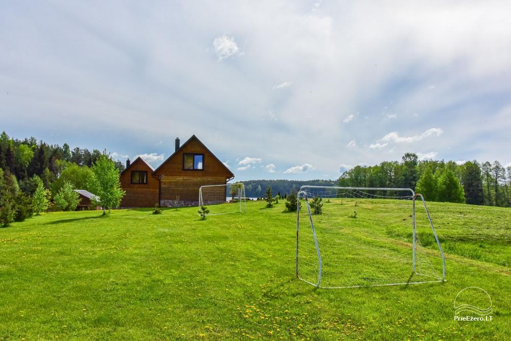 """Nameliai ir pirtis ant ežero kranto, namas su sale – """"Nijolės ir Henriko Zubrickų sodyba"""" - 36"""