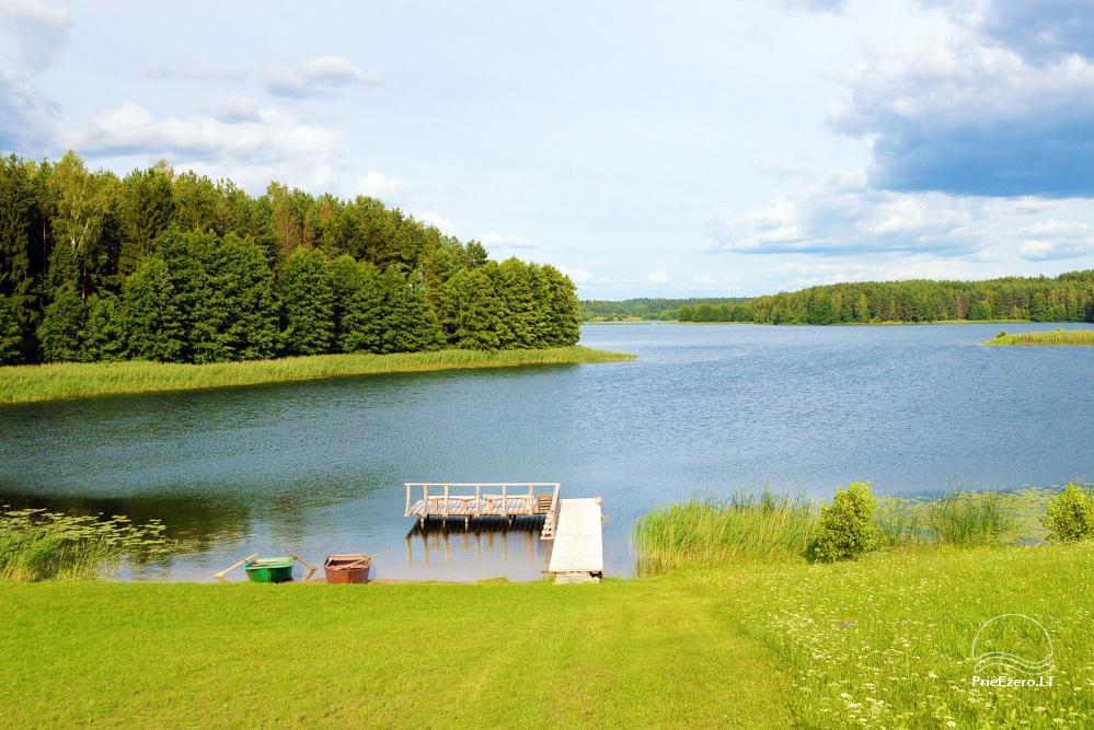 """Nameliai ir pirtis ant ežero kranto, namas su sale – """"Nijolės ir Henriko Zubrickų sodyba"""" - 31"""