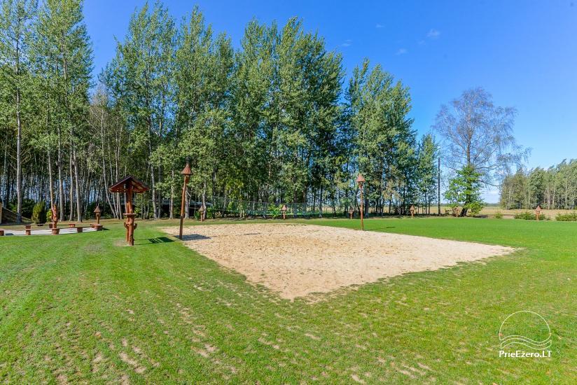 Kaimo turizmo sodyba Bitynė šventėms ir poilsiui - pirtis, kubilas, žaidimų aikštelė, tinklinis - 12
