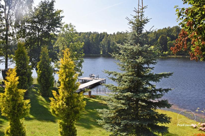 """Nameliai su pirties kompleksu ant ežero kranto, žaidimo aikštelės, žvejyba Ilgio vingis"""" - 18"""