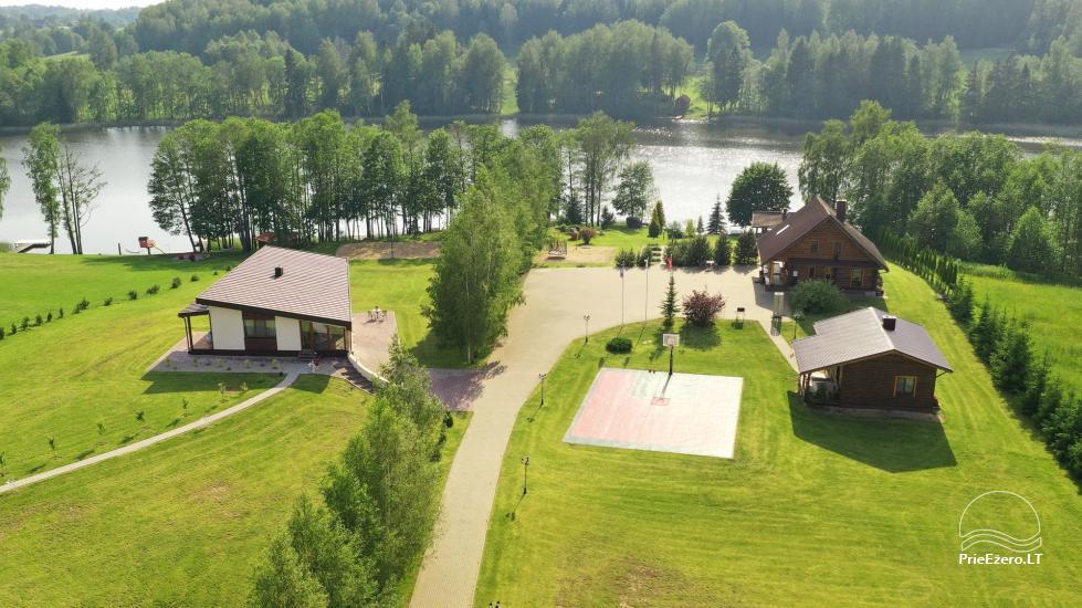 """Nameliai su pirties kompleksu ant ežero kranto, žaidimo aikštelės, žvejyba Ilgio vingis"""" - 2"""
