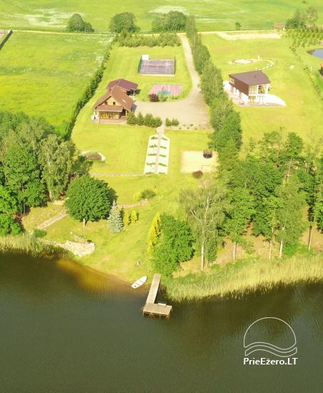 """Nameliai su pirties kompleksu ant ežero kranto, žaidimo aikštelės, žvejyba Ilgio vingis"""" - 3"""