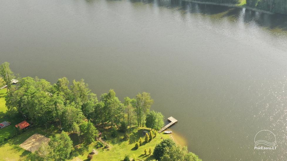 """Nameliai su pirties kompleksu ant ežero kranto, žaidimo aikštelės, žvejyba Ilgio vingis"""" - 7"""