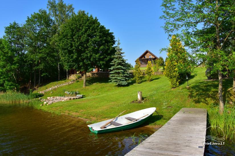 """Nameliai su pirties kompleksu ant ežero kranto, žaidimo aikštelės, žvejyba Ilgio vingis"""" - 15"""