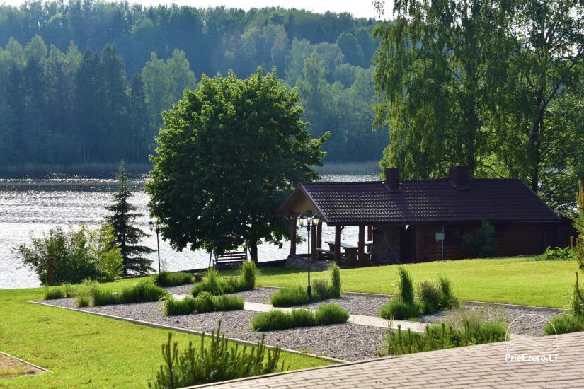 """Nameliai su pirties kompleksu ant ežero kranto, žaidimo aikštelės, žvejyba Ilgio vingis"""" - 22"""