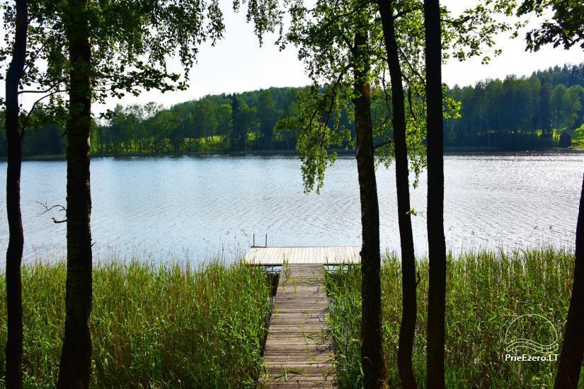 """Nameliai su pirties kompleksu ant ežero kranto, žaidimo aikštelės, žvejyba Ilgio vingis"""" - 16"""