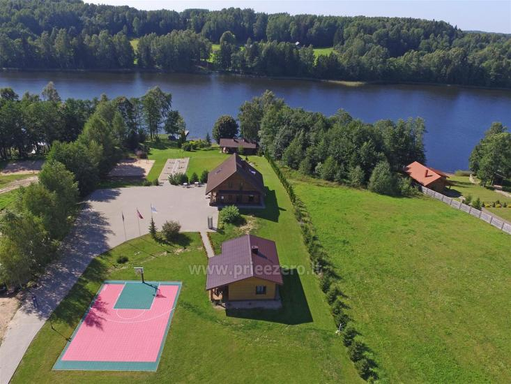 """Sodyba """"Ilgio Vingis"""" prie ežero: nameliai, salė, pirtis, teniso kortai, baidarės, krepšinis, tinklinis - 1"""
