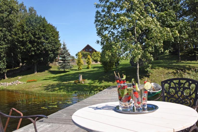 """Sodyba """"Ilgio Vingis"""" prie ežero: nameliai, salė, pirtis, teniso kortai, baidarės, krepšinis, tinklinis - 9"""