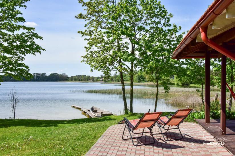 Jaukus namelis dviems su pirtele ant ežero kranto, sodyboje Pas Drambliuką - 3