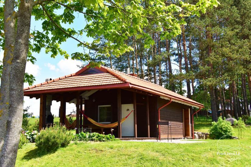 Jaukus namelis dviems su pirtele ant ežero kranto, sodyboje Pas Drambliuką - 1