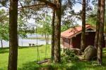 Jaukus namelis dviems su pirtele ant ežero kranto, sodyboje Pas Drambliuką - 11