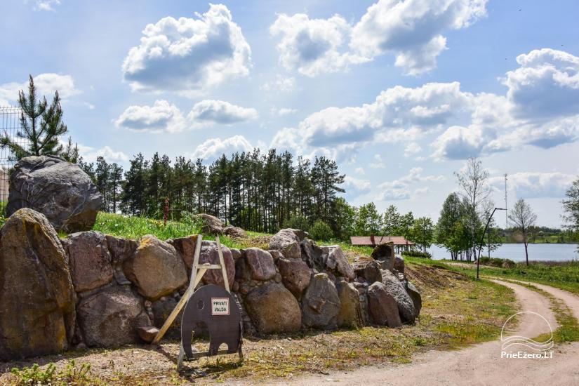 Jaukus namelis dviems su pirtele ant ežero kranto, sodyboje Pas Drambliuką - 15