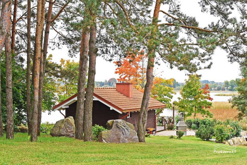Jaukus namelis dviems su pirtele ant ežero kranto, sodyboje Pas Drambliuką - 2