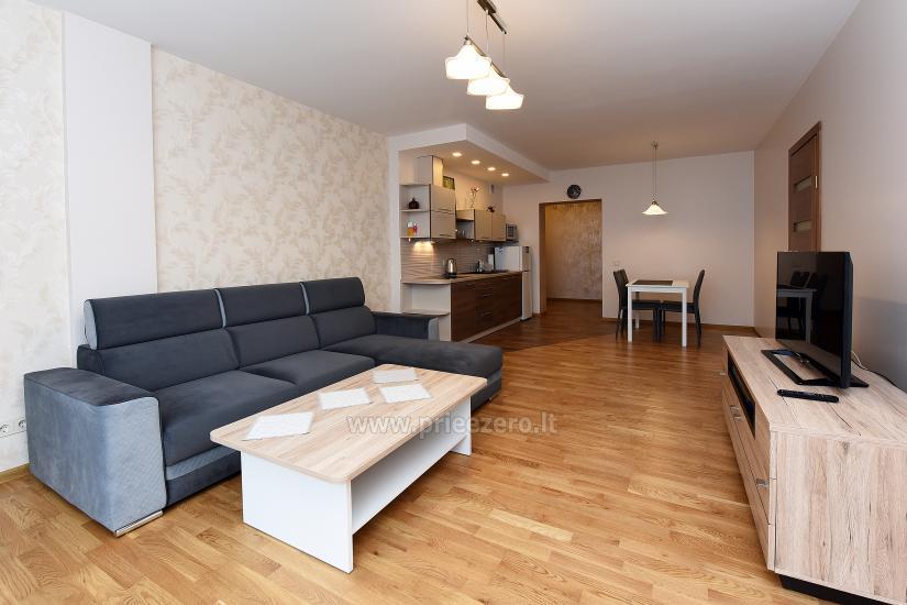 """67 kv.m. naujas dviejų kambarių butas """"Druskupio"""" Birštono centre: pirmas aukštas, terasa - 7"""