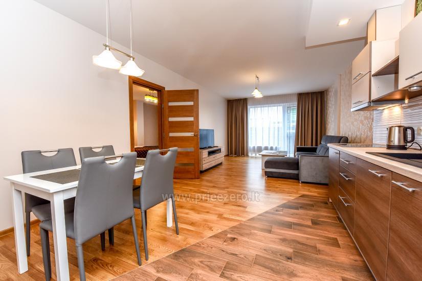 """67 kv.m. naujas dviejų kambarių butas """"Druskupio"""" Birštono centre: pirmas aukštas, terasa - 4"""
