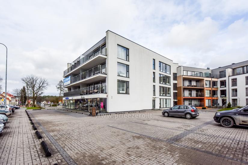 """67 kv.m. naujas dviejų kambarių butas """"Druskupio"""" Birštono centre: pirmas aukštas, terasa - 18"""