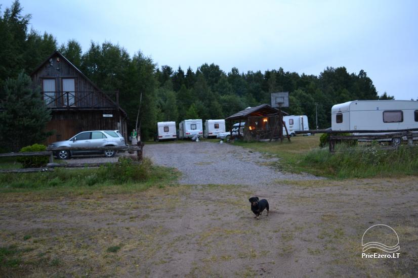 Sodyba su 5 ha įžuvintu tvenkiniu, Misgirių stovyklavietė su namukais poilsiui - 44