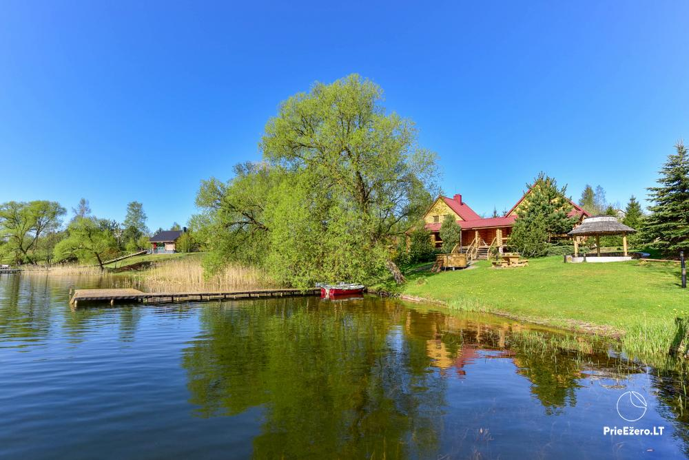 Vilnojos sodyba VIlniaus rajone ant ežero kranto su pirtimi, kubilu, džiakuzi - 1