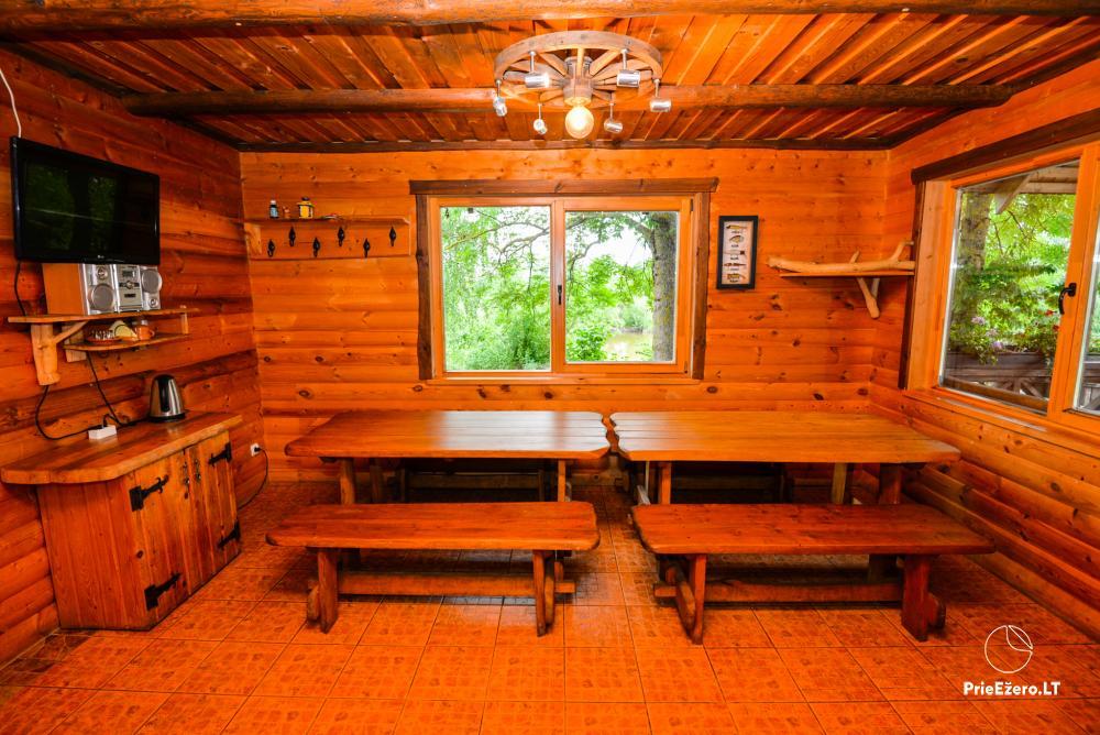 Sodyba Onupis Kauno rajone - šeimos poilsiui, pirtelė, kubilas. Pokylių salė - 16