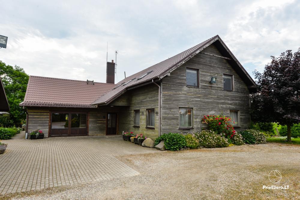 Sodyba Onupis Kauno rajone - šeimos poilsiui, pirtelė, kubilas. Pokylių salė - 11