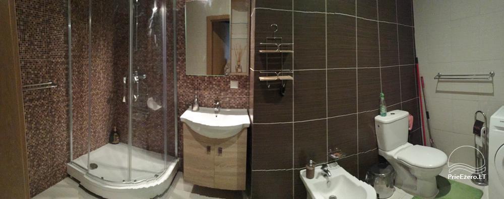 Nauji dviejų kambarių apartamentai Druskininkų centre.Gražus vaizdas į vidinį kiemelį su baseinėliu, vaikų žaidimų aikštele - 9